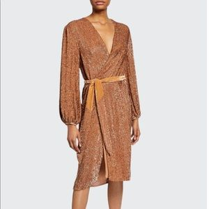 Retrofete Audrey Robe Dress in Bronze